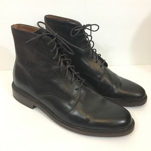 Frye Jones Lace-Up Boot Leather Brown Size 12